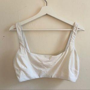 Aerie Wide Strap Scoop Bikini Top White XL